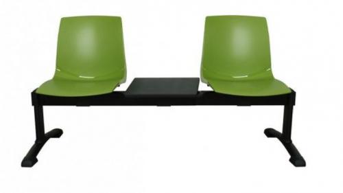 Ławka ARI 3T 2 osobowa + stolik - zielona