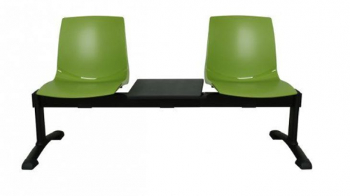 Ławka ARI3T 2 osobowa + stolik - zielona