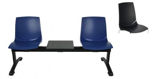 Ławka ARI 3T 2 osobowa + stolik - czarna