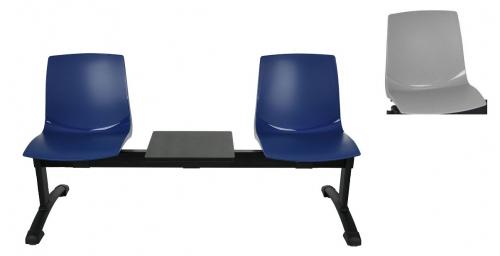 Ławka ARI 3T 2 osobowa + stolik - szara