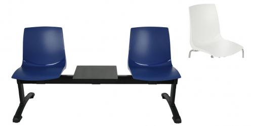 Ławka ARI3T 2 osobowa + stolik - biała