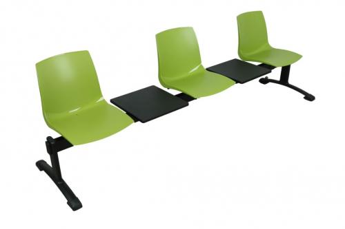 Ławka ARI5T 3 osobowa + 2 stoliki - zielona
