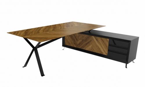 Biurko z pomocnikiem CHEVRON CN3/200x150x75h