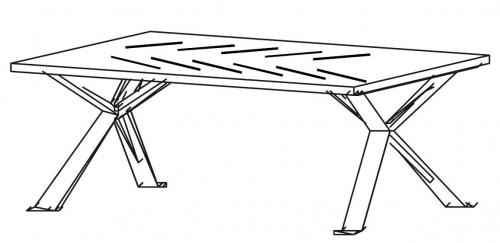 Stolik okolicznościowy CHEVRON CN13/120x60x65h