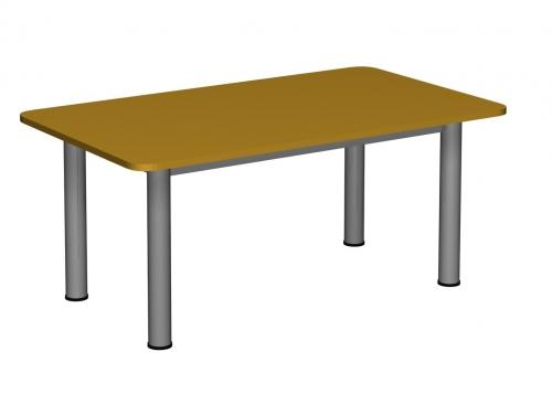 Stolik MB prostokątny metal fi 60 / opcja regulacja wysokości
