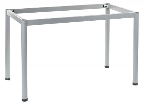 Stelaż do stołu i biurka EF-57/OA 136x66 cm, nogi okrągłe fi 5 cm - ALUMINIUM