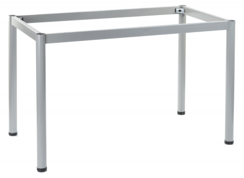 Stelaż do stołu i biurka EF-57/OA 196x76 cm, nogi okrągłe fi 5 cm - ALUMINIUM