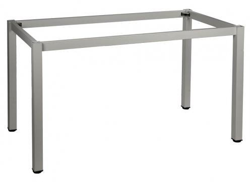 Stelaż do stołu i biurka EF-57/KA 66x66 cm, nogi kwadratowe 5x5 cm - ALUMINIUM