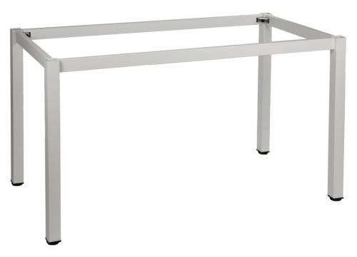 Stelaż do stołu i biurka EF-57/KB 136x76 cm, nogi kwadratowe 5x5 cm - BIAŁY