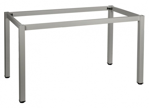 Stelaż do stołu i biurka EF-57/KA 136x76 cm, nogi kwadratowe 5x5 cm - ALUMINIUM