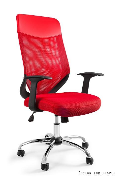 Fotel biurowy MOBI PLUS - CZERWONY