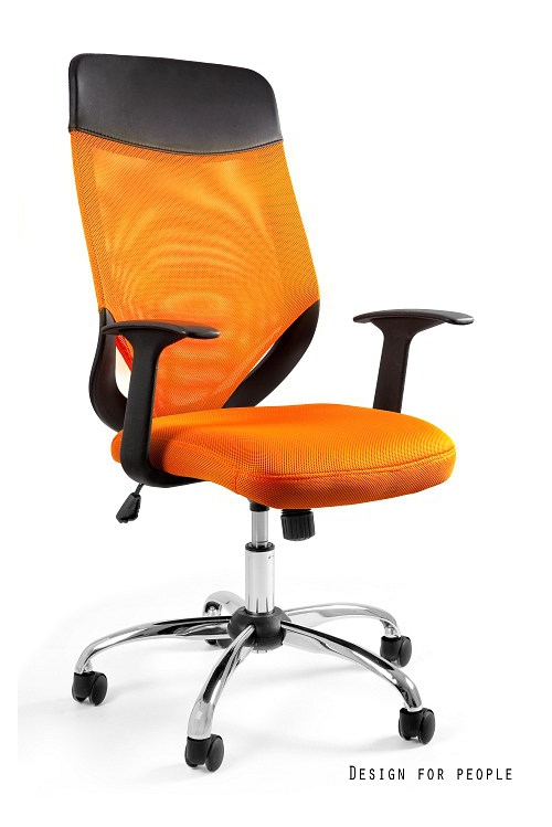 Fotel biurowy MOBI PLUS - POMARAŃCZOWY