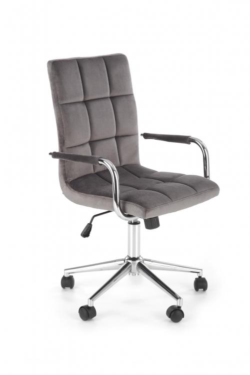 Krzesło obrotowe GONZO 4 popielaty velvet