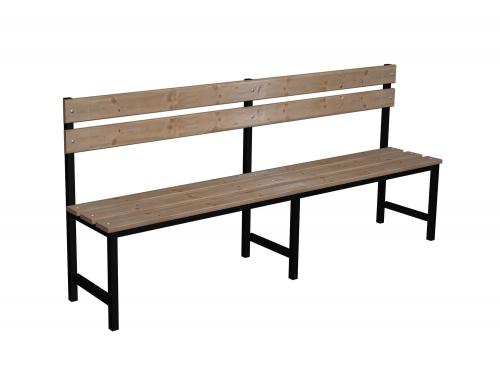 Ławka korytarzowa Premium 1-str. z oparciem, długości 1m, 1,2m, 1,5m, 1,8m, 2,0m.