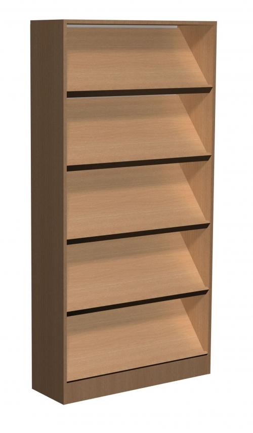 Regał biblioteczny A skośne półki