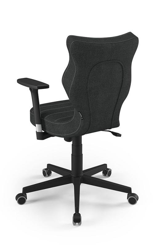 ENTELO Dobre Krzesło obrotowe NERO nr 6 - podstawa czarna / chrom