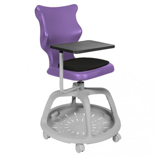 ENTELO Dobre krzesło obrotowe POCKET PLUS SOFT nr 6 z ruchomym pulpitem