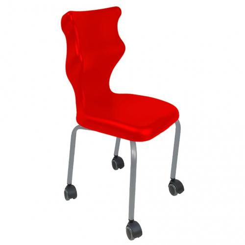Krzesło szkolne Spider Move nr 5 - stelaż biały Entelo