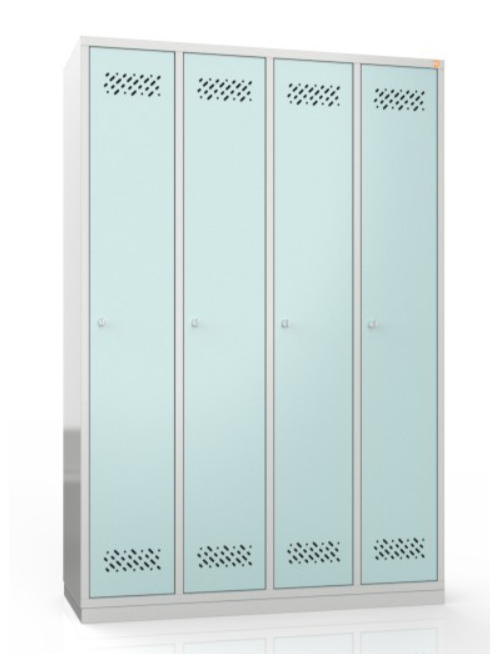 Szafa metalowa szkolna ubraniowa BHP/4/4MG