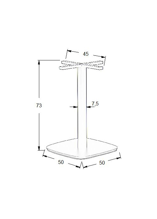 Podstawa do stolika EF-SH-3050-3/B 50x50 cm, wys. 73 cm