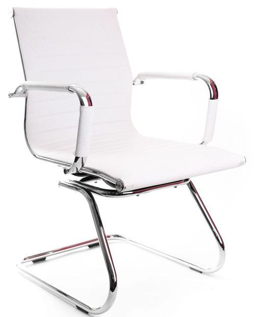 Krzesło konferencyjne UNIVERSE B biały - płoza