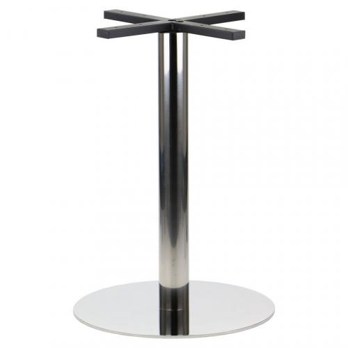 Podstawa do stolika EF-E70 żeliwna, czarna - wysokość 72 cm fi 43 cm