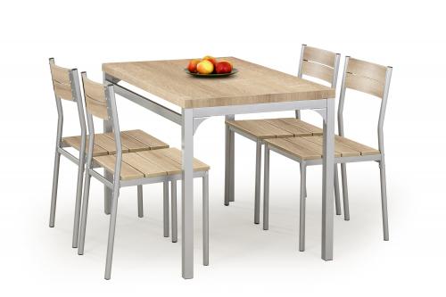 Zestaw: stół MALCOLM + 4 krzesła sonoma