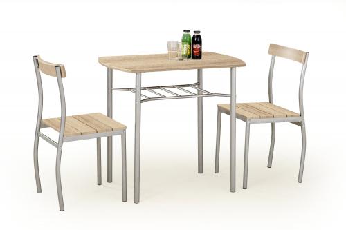 Zestaw: stół LANCE + 2 krzesła dąb sonoma