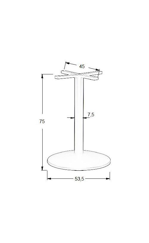 Podstawa do stolika EF-SH-4003-7/B  fi 53,5 cm, wys. 75 cm