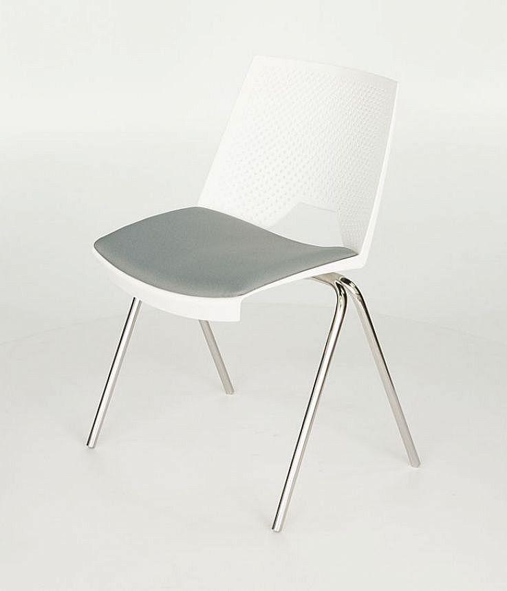 Krzesło konferencyjne STRIKE - na 4 nogach tapicerowane siedzisko