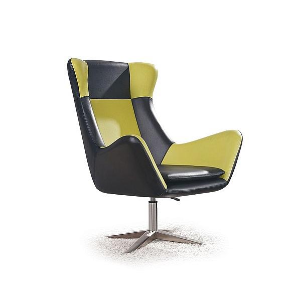 Fotel wypoczynkowy ATLAS - czarno-zielony