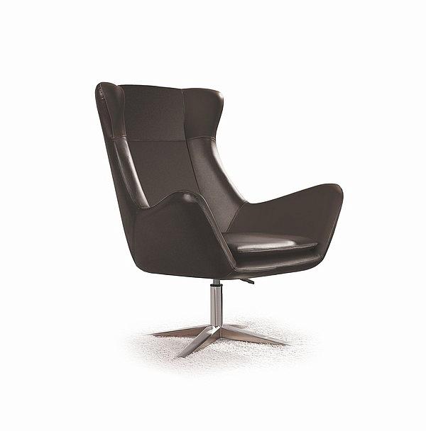 Fotel wypoczynkowy ATLAS - czarny