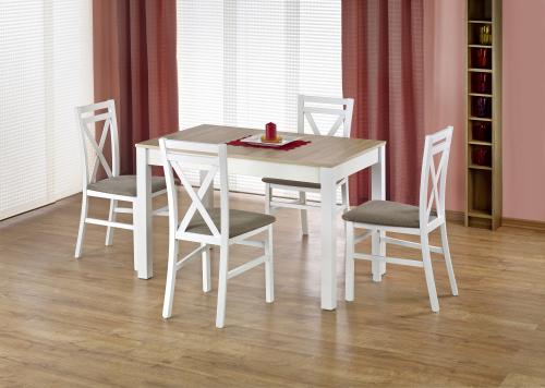 Stół rozkładany MAURYCY - dąb sonoma/biały