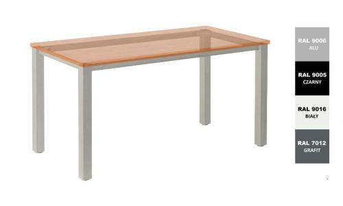 Stelaż metalowy do biurka lub stołu  ST/KW/76 noga kwadrat 5x5 głębokość 76 cm, różne długości
