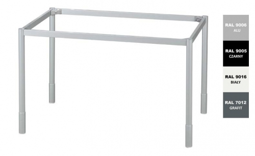 Stelaż metalowy do biurka lub stołu  ST-A noga okrągła fi 4 głębokość 57 cm, różne długości