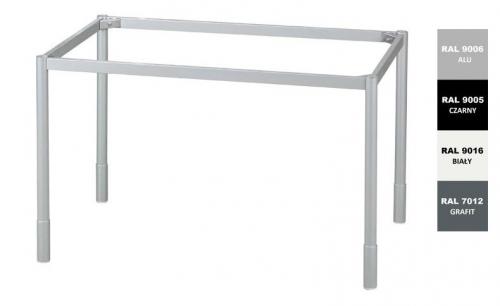 Stelaż metalowy do biurka lub stołu  ST/O/74 noga okrągła fi 4 głębokość 74 cm, różne długości