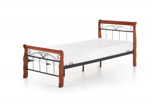 VERONICA łóżko 90 cm czereśnia ant./czarny (4p=1szt.)
