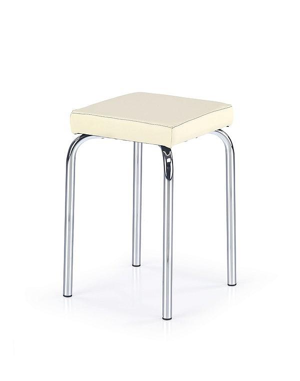 PIRI taboret.chrom siedz.PU-02 beżowy (1p=4szt)