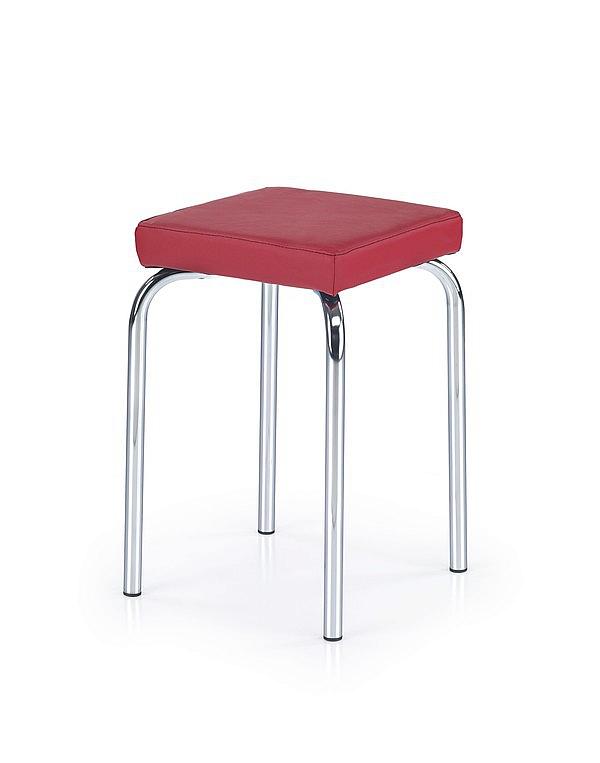 PIRI taboret.chrom siedz.PU-06 czerwony (1p=4szt)
