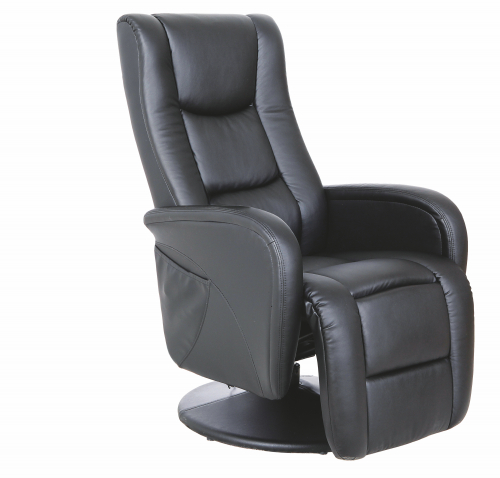 PULSAR recliner z funkcją masażu i podgrzewania czarny