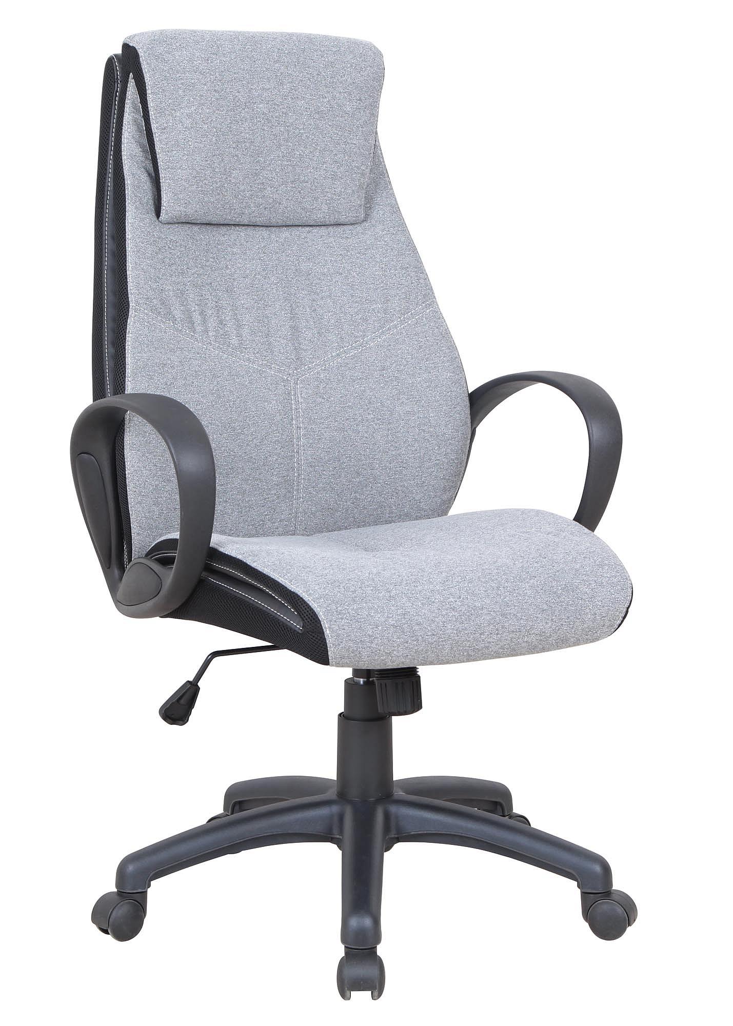 AMIGO fotel gabinetowy jasny popiel