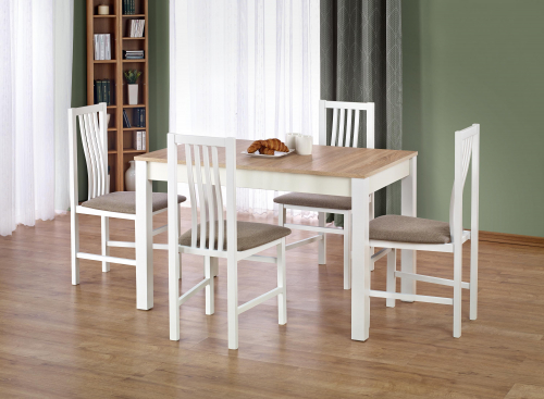 Stół KSAWERY kolor dąb sonoma / biały