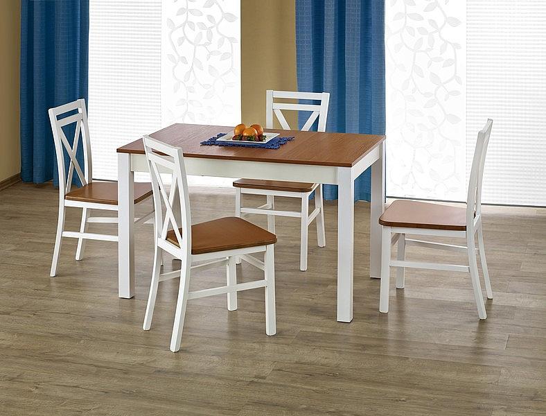 KSAWERY stół kolor olcha / biały (2p=1szt)