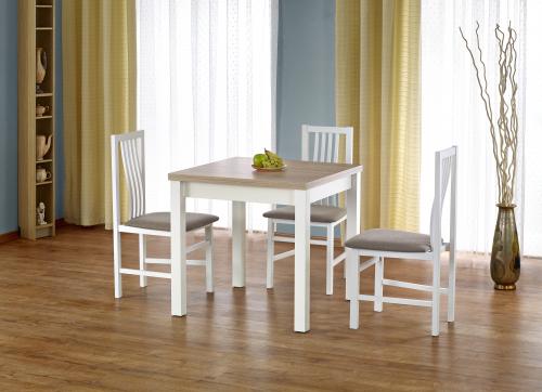 Stół rozkładany GRACJAN kolor dąb sonoma / biały