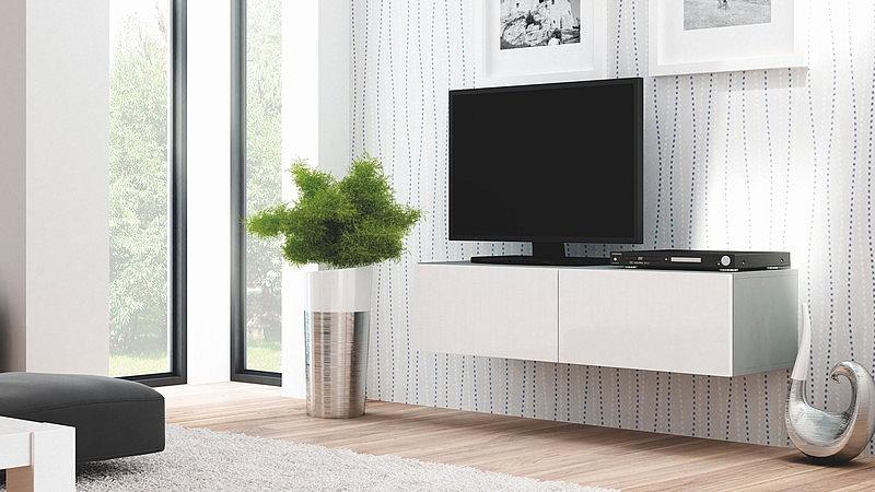 LIVO RTV 160 wisząca popiel / biały (1p=1szt)