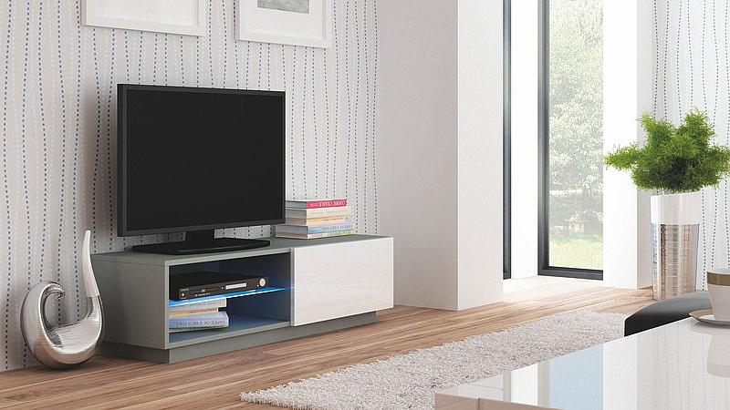 LIVO RTV 120 stojąca popiel / biały (1p=1szt)