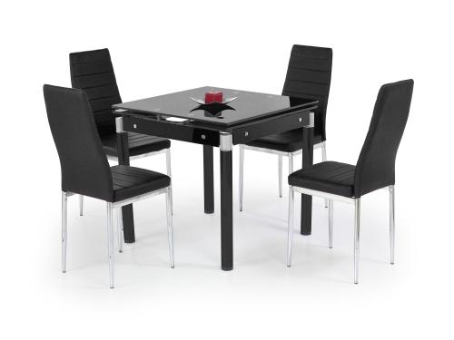 KENT stół rozkładany czarny, stal malowana (1p=1szt)