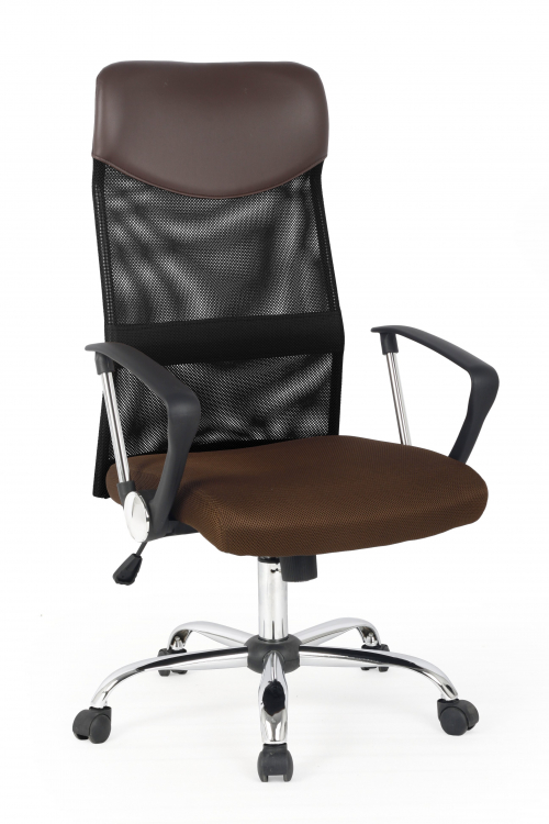 Fotel obrotowy VIRE  brązowy