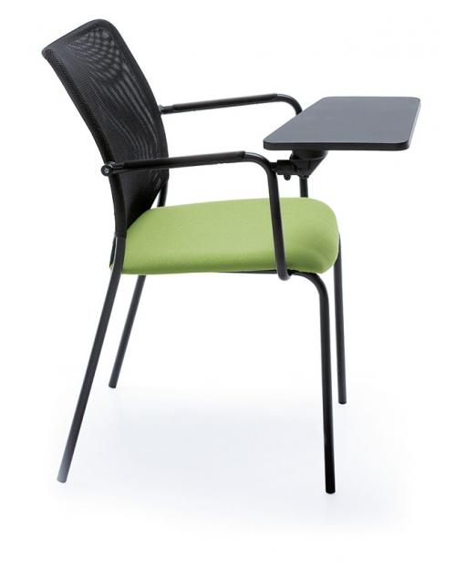 Krzesło konferencyjne SUN H 2PB z podłokietnikami i blatem