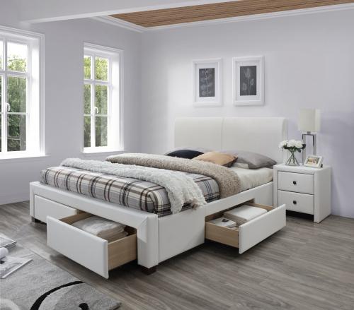 MODENA 2 łóżko biały (6p=1szt)